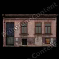 3D Model of Building Front Side