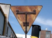 Photo Texture of Backside Traffic Sign