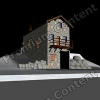 3D Model of Rock Mountain Cottage