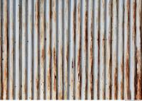 Photo Texture of Metal Corrugated Plates Rusted