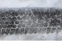 photo texture of snow trace