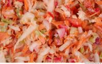 Photo Texture of Vegetables Salad 0001
