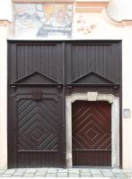 Photo Texture of Wooden Double Door 0013