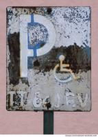 Photo Texture of Parking Traffic Sign