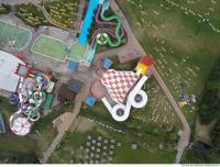 photo texture of aquapark from above 0009