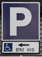 parking traffic signs