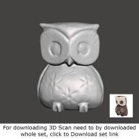 3D Scan of Wooden Owl