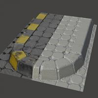 3D scan of traffic island
