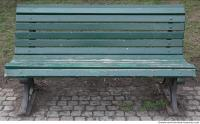 bench wooden green 0002