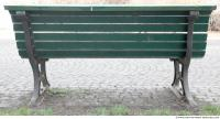 bench wooden green 0003