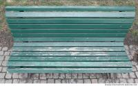 bench wooden green 0004