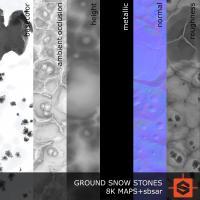 PBR ground snow stone texture DOWNLOAD