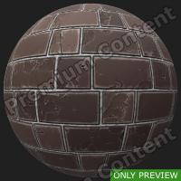 PBR wall bricks old texture 0001