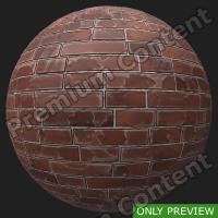 PBR wall brick old preview 0001