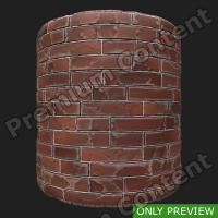 PBR wall brick old preview 0003