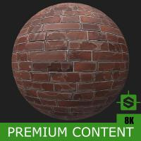 PBR Substance Material of Wall Brick Old #2