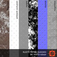 PBR rusty metal studded texture DOWNLOAD