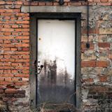Single Old Wooden Doors