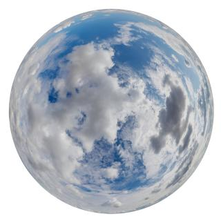 Blue Clouded HDRI SKY