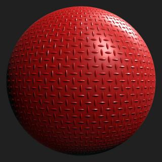 Metal Red Painted PBR