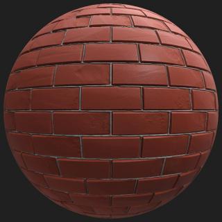 Wall Brick Old PBR #3