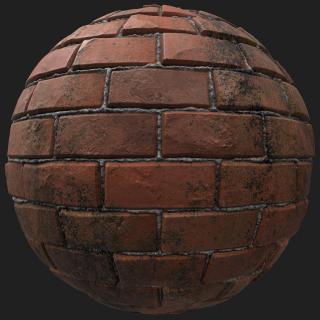 Wall Brick Dirty PBR #2